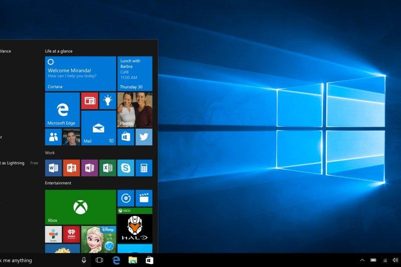 微軟發表新的Windows 10作業系統,傳出存在竊取用戶隱私的漏洞。(美聯社)