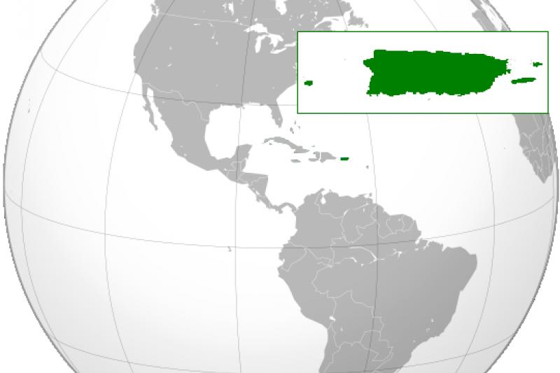 波多黎各的地理位置。(維基百科)