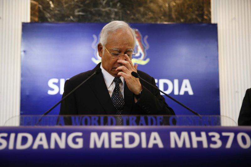 馬來西亞總理納吉布(Najib Razak)正式宣布發現MH370客機殘骸(美聯社)