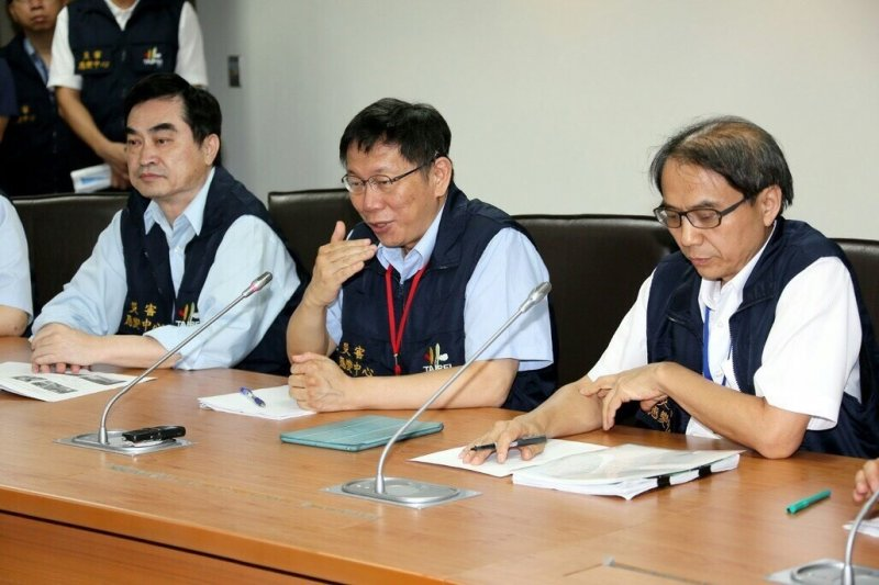 蘇迪勒颱風來襲,台北市長柯文哲災防視察。(台北市政府提供)