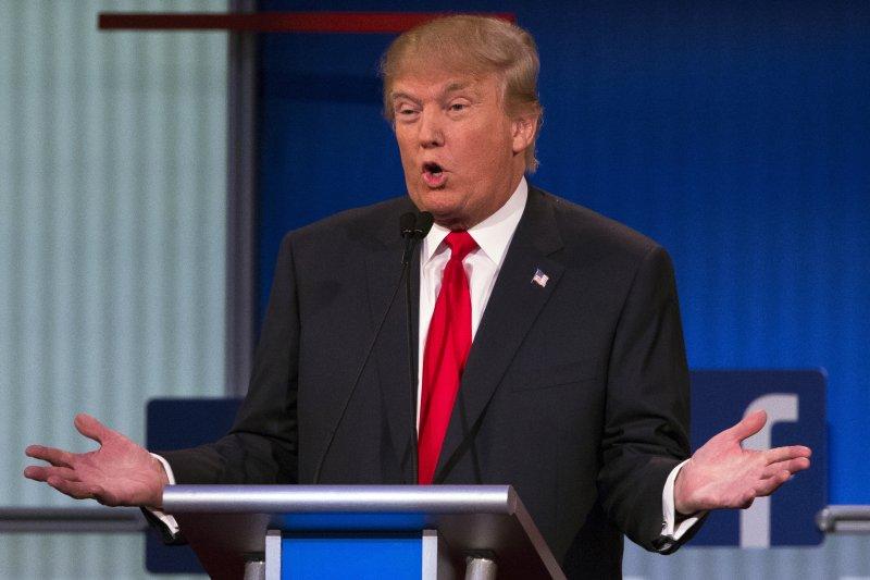 在共和黨總統參選人第一場辯論會上,川普幾乎一枝獨秀。(美聯社)