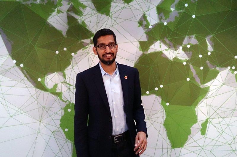 皮猜(Sundar Pichai)升任Google執行長(維基百科)