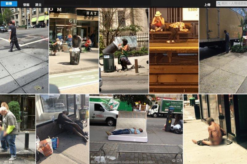 警察慈善協會(Sergeants Benevolent Association)鼓勵成員上傳街友的照片。(取自Flickr)