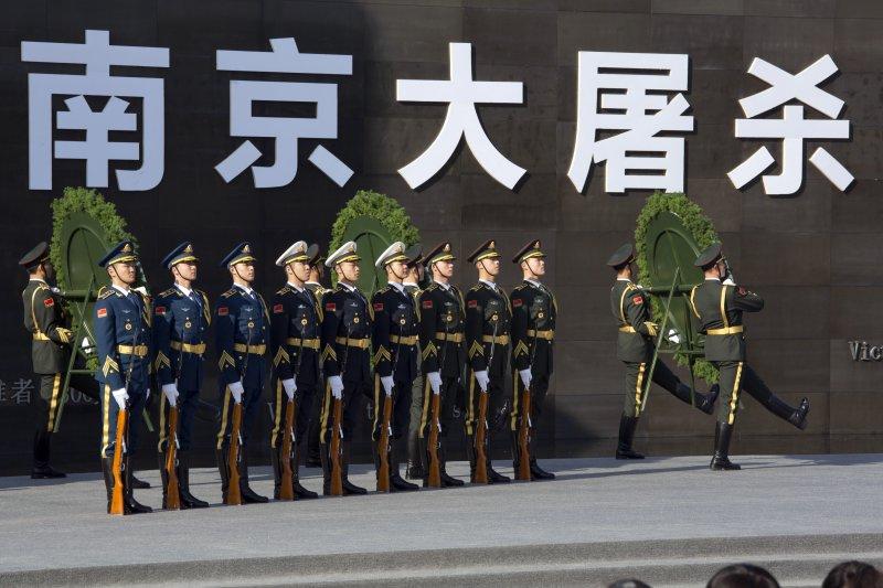 南京的「侵華日軍南京大屠殺遇難同胞紀念館」(美聯社)