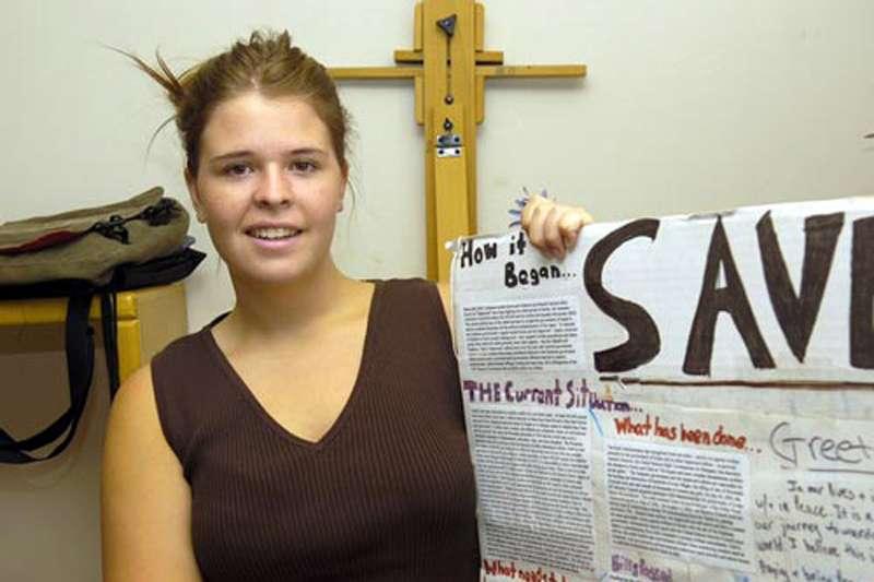 在敘利亞遭伊斯蘭國擄走、因此遇害的美國女志工穆勒(Kayla Mueller)(美聯社)