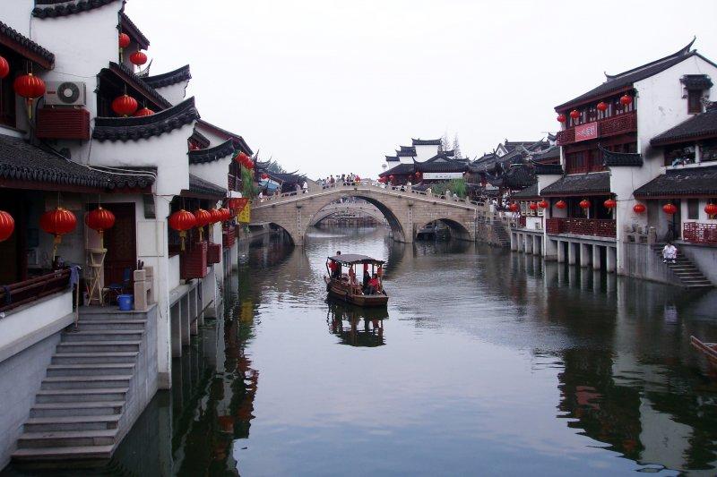 上海閔行七寶鎮是典型的江南古鎮 (維基百科)