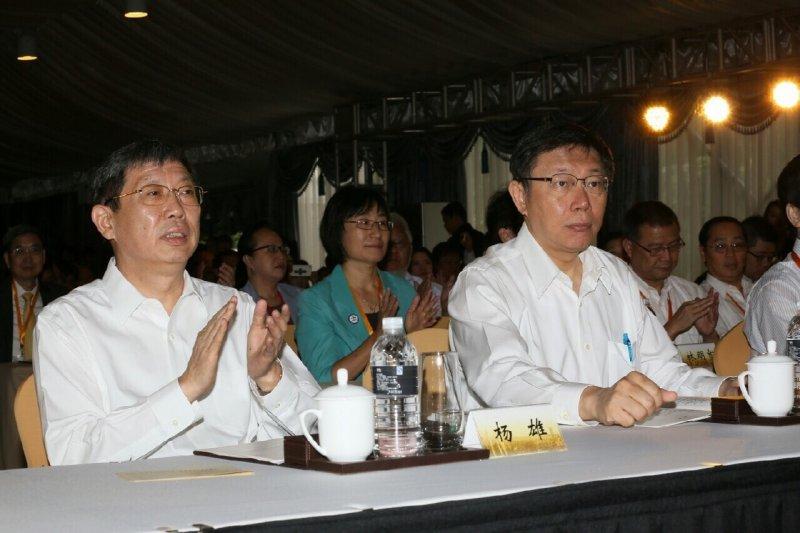 雙城論壇18日上午在中國上海瑞金賓館百合苑登場,上海市長楊雄在致詞時表示,雙方交流合作正在向縱深發展,雙城論壇也成為兩岸交流、民間交流的典範。(台北市政府提供)