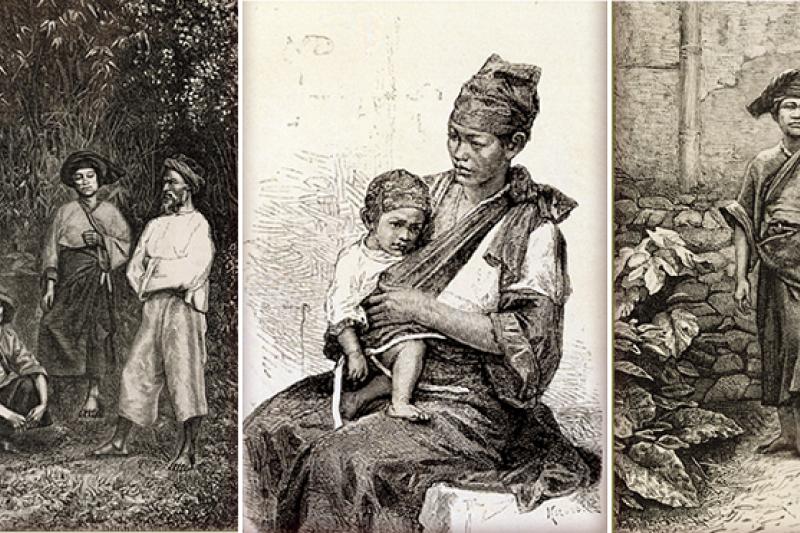 臺灣原住民西拉雅族近年積極爭取回復原住民身分,目前仍未獲政府同意。圖為英國人約翰.湯姆生為西拉雅族留下許多珍貴的紀錄圖片。(台灣記憶/國家圖書館)