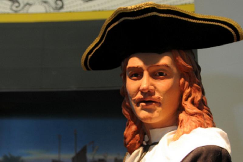 荷蘭人領台期間,也讓台灣人的血液裡多了「歐緣」。(圖為荷蘭台灣長官塑像/國立台灣歷史博物館官網)