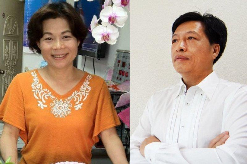 桃園第4選區,鄭寶清(右)確定以162票之差勝過對手楊麗環(左)。(圖/取自兩人臉書)