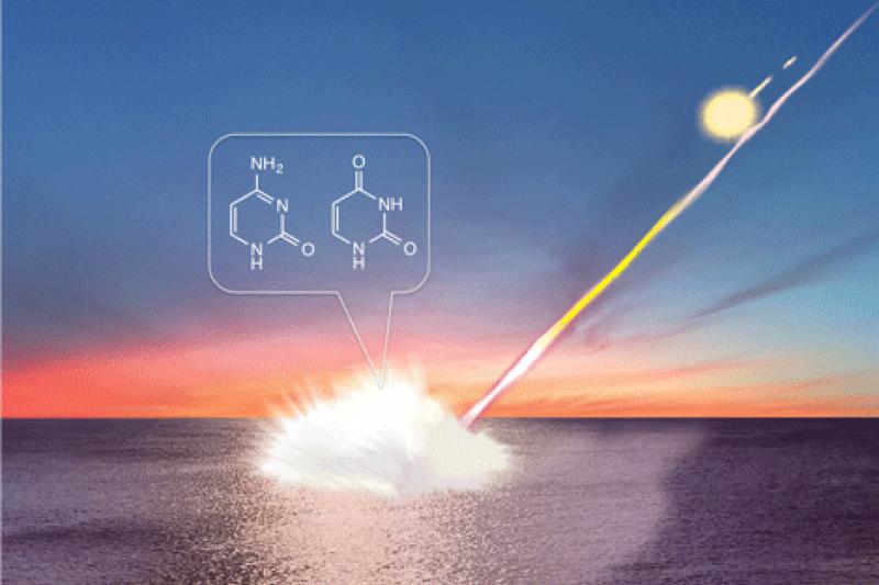 日本東北大學證實隕石撞擊,將產生遺傳物質。(日本東北大學)