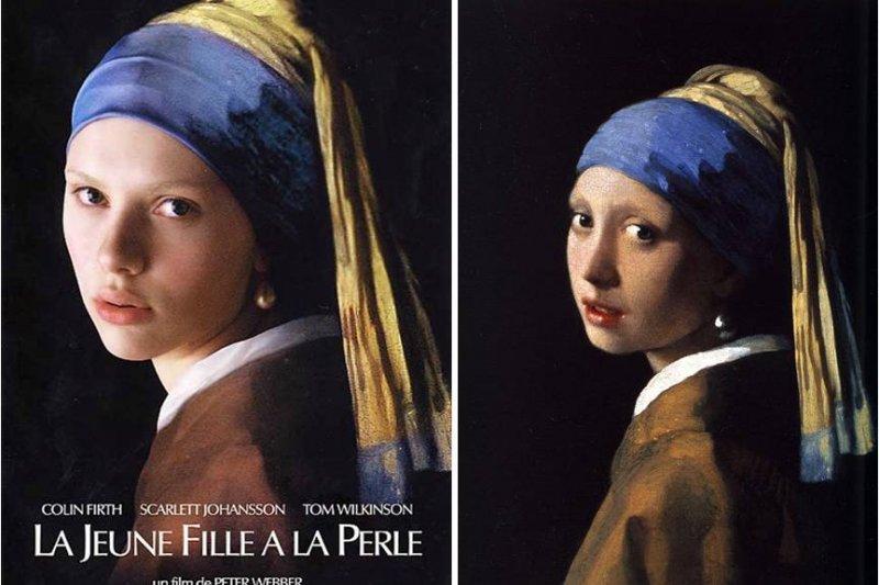 史嘉蕾喬韓森與畫作《帶著珍珠耳環的少女》相似度極高,被譽為這個角色的完美人選。(取自 巴哈姆特sqawn7373)
