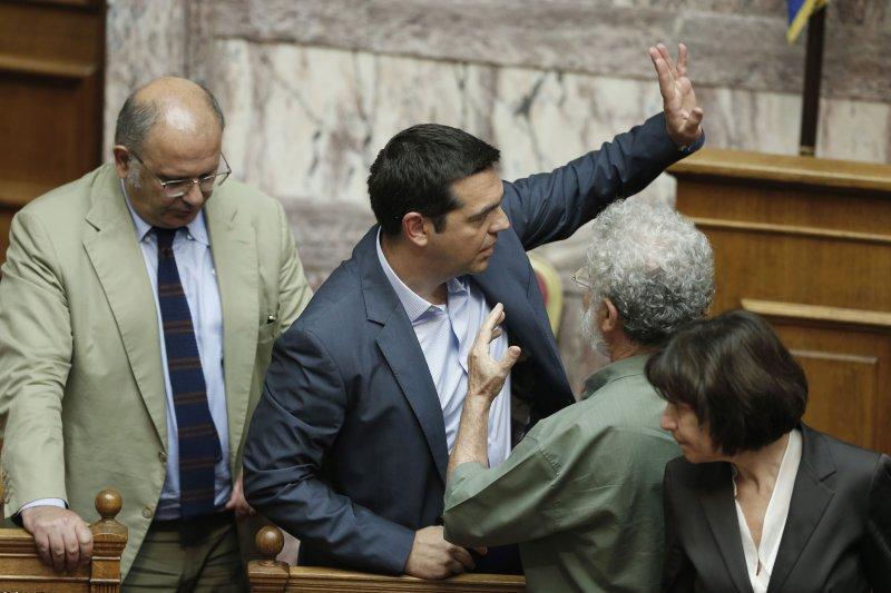 希臘總理齊普拉斯20日宣布辭職。(美聯社)