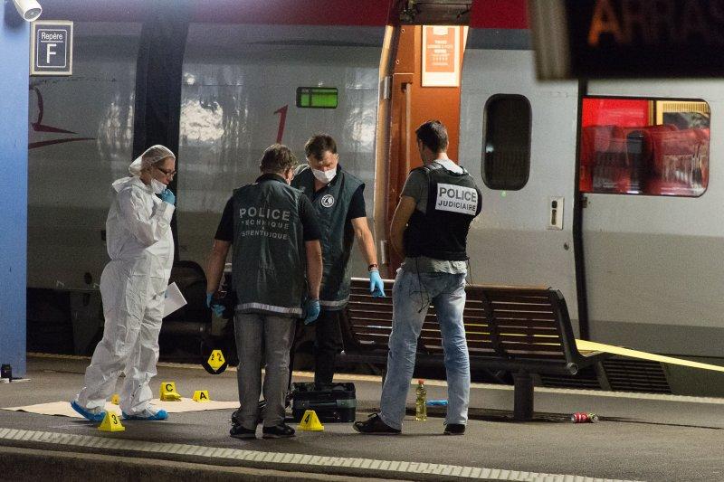 Thalys高鐵槍擊案。(美聯社)