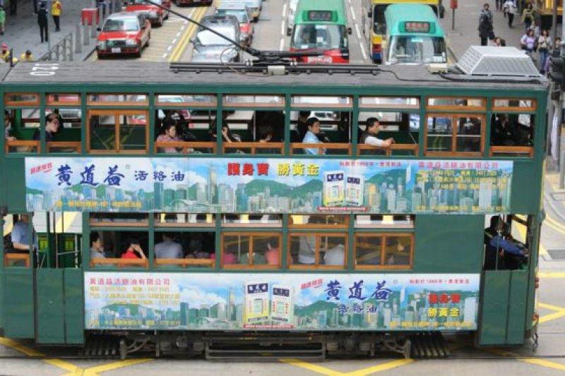香港電車是全球僅存的三個雙層電車系統之一,其二為英國黑池與埃及亞歷山大港。(BBC中文網)