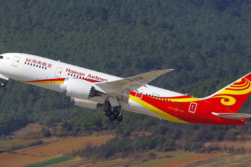 海南航空的波音787。(波音中國網站)