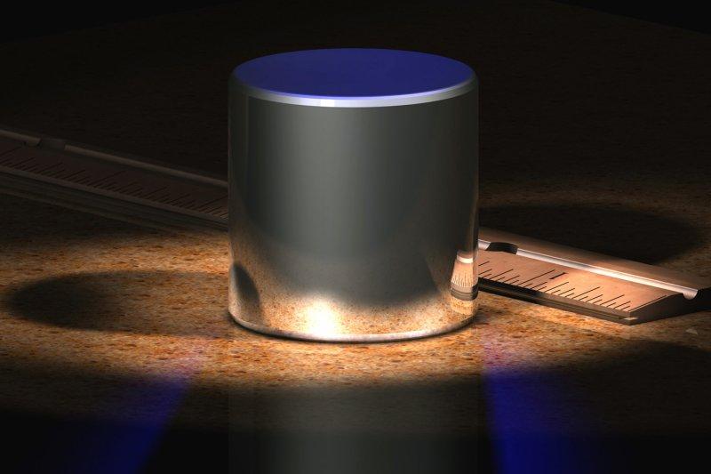 電腦模擬的國際公斤原器。(圖/維基百科)