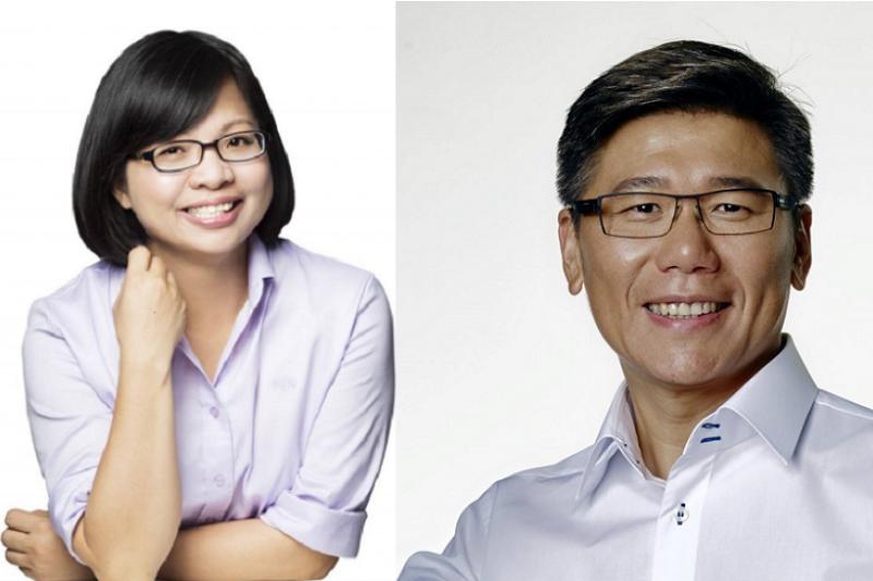 新北市二選區兩位參選人民進黨提名的林淑芬(左)拚任,國民黨的陳明義未始沒有一博的可能。(取自兩位參選人臉書)