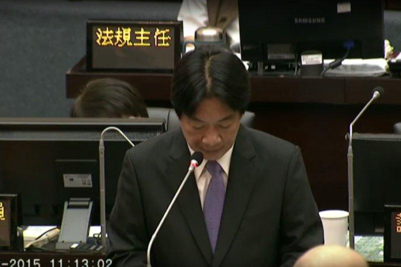 台南市長賴清德終於進市議會報告。(取自台南市議會議事影音直播)