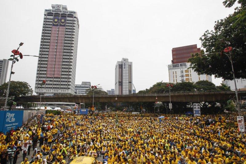 馬來西亞公平乾淨選舉聯盟給了香港若干啟發。(美聯社)