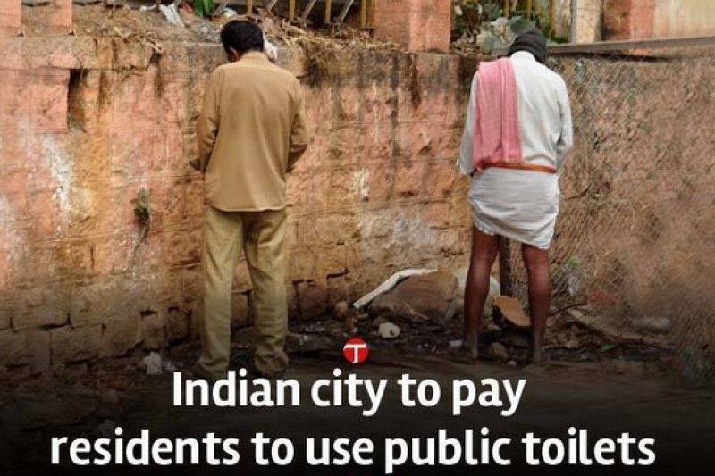 為了改善公共衛生,印度政府祭出奇招。(取自推特)
