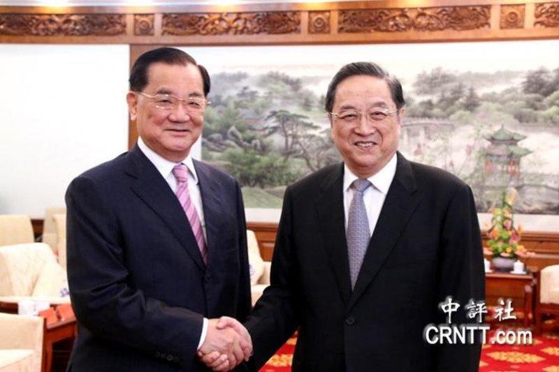 中國政協主席俞正聲會見連戰。(中評社)