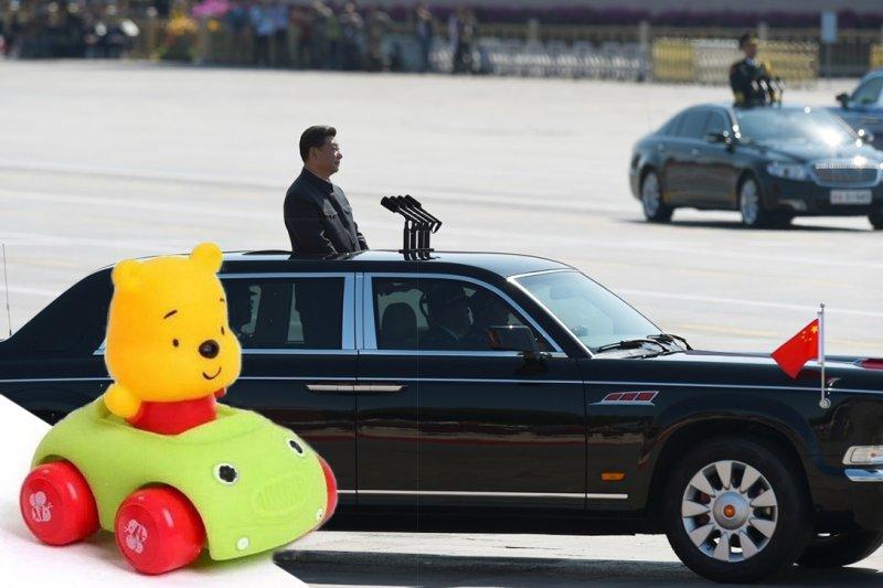 習近平被中國網友類比為小熊維尼(取自網路、美聯社)。