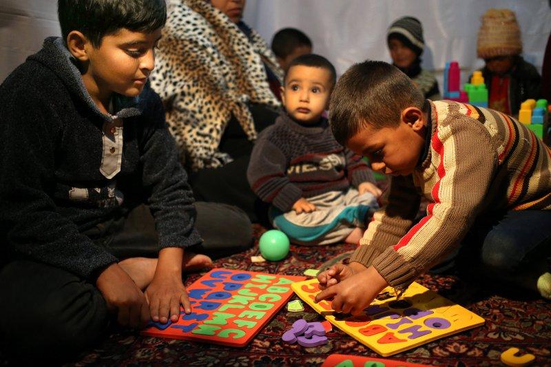 敘利亞難民兒童(美聯社)