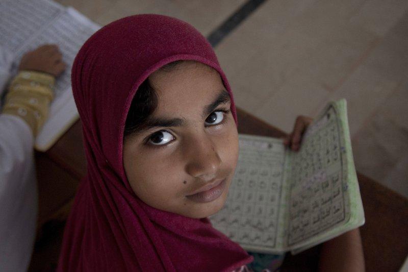 巴基斯坦女學生。(美聯社)