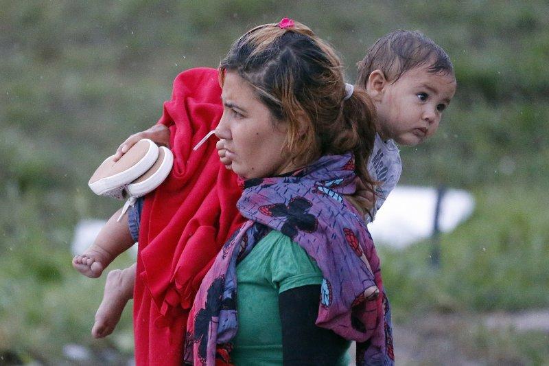 敘利亞難民潮。(美聯社)