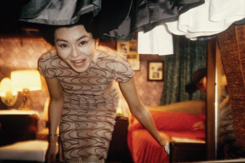 杜可風個人收藏檔案:張曼玉在她的專屬休息室。