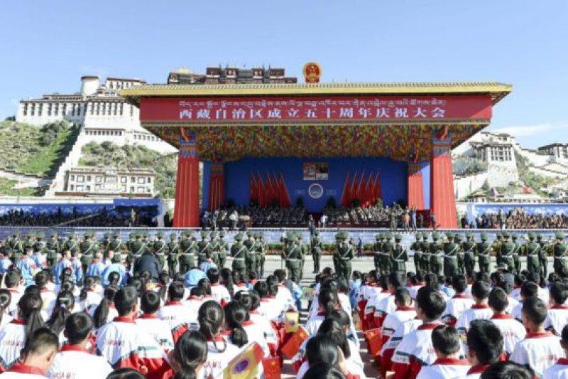 北京高度重視西藏自治區成立50週年的紀念活動。(BBC中文網)