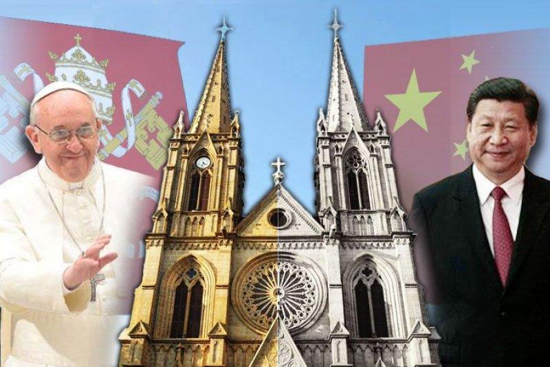 有外媒報導指出,中國與梵蒂岡雙方有意恢復中斷65年的關係,且談判已經進行到了尾聲。(美聯社、梵蒂岡官網、維基百科,風傳媒重製)