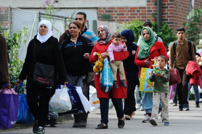 德國境內的難民(美聯社)。