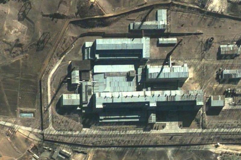 寧邊核設施的衛星空拍照。