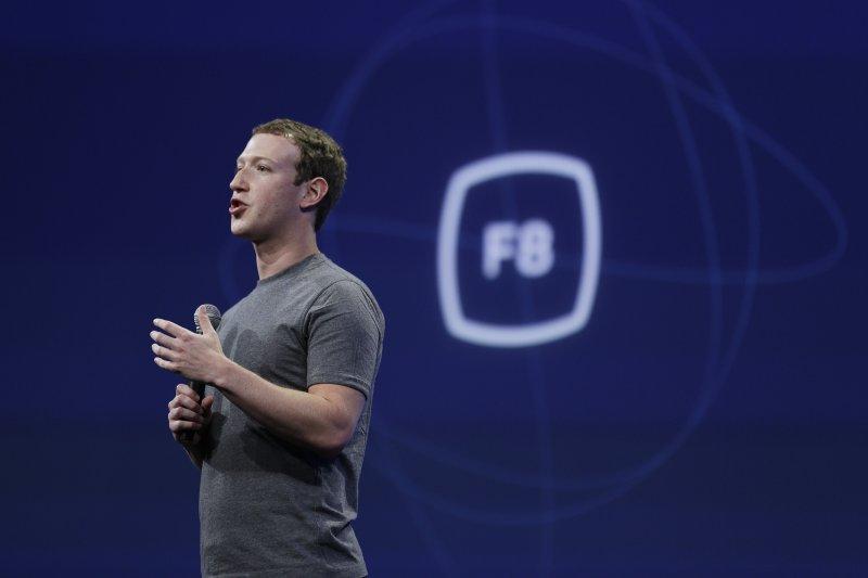 Facebook創辦人祖克伯(Mark Zuckerberg)。(美聯社)