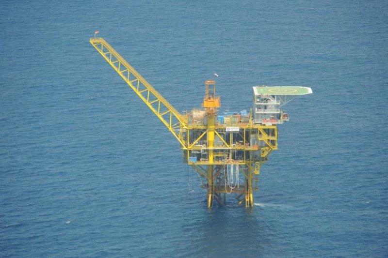 日本外務省14日指出,中國持續對位於東海的4座海上設施進行開發。(日本外務省)