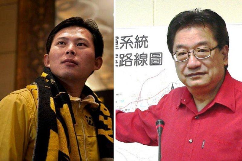 新北市十二選區兩位參選人黃國昌(左,時代力量)與李慶華(右,國民黨)。(取自兩人臉書)