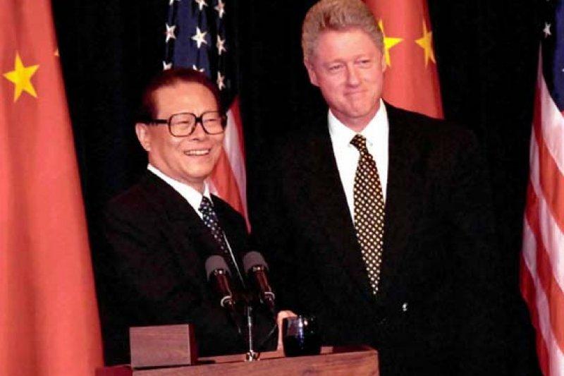 江澤民1997年訪美。(翻攝網路)