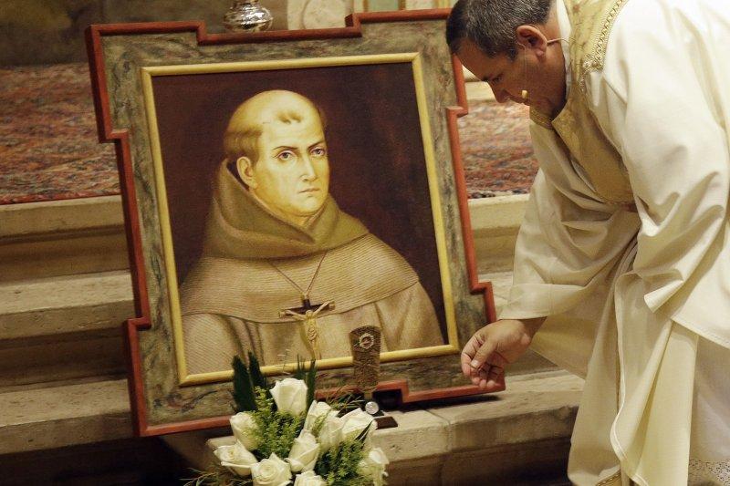 被教宗方濟各策封為聖人的18世紀傳教士塞拉(Junípero Serra)(美聯社)