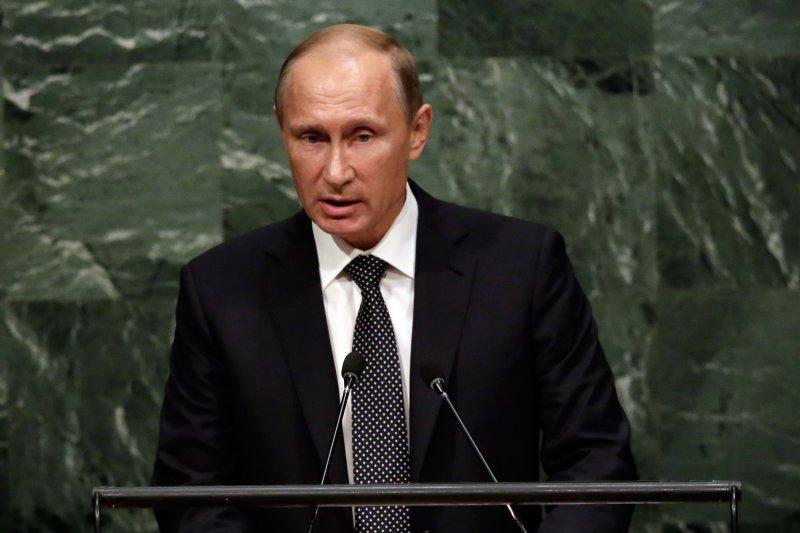 俄羅斯總統普京在聯合國大會發表演講(美聯社)
