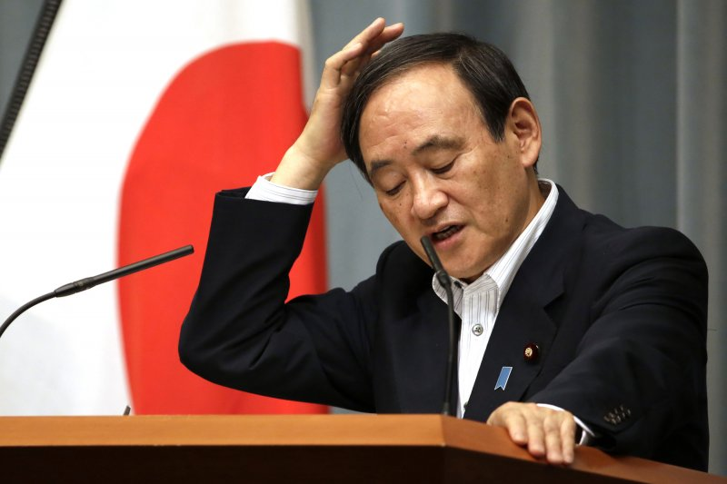 菅義偉日前曾表示,日本「絕對沒有」對中國派出間諜。(美聯社)