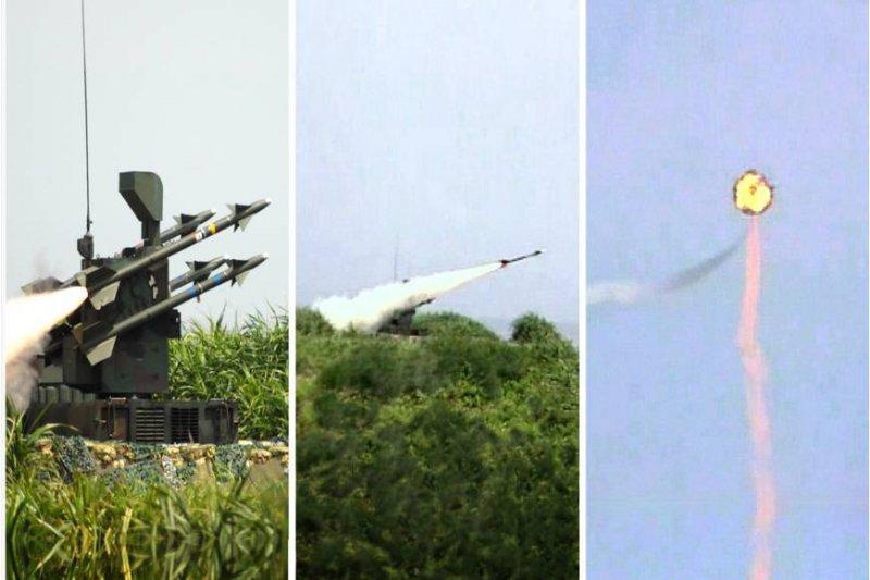 近年演訓的實彈射擊中,劍一飛彈無論是空射型或陸射型,都比同性能的響尾蛇飛彈命中率要高。(國防部提供)