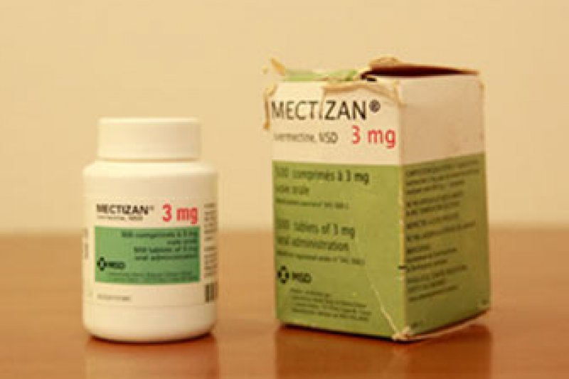 在非洲免費發放的「河盲症」藥品。