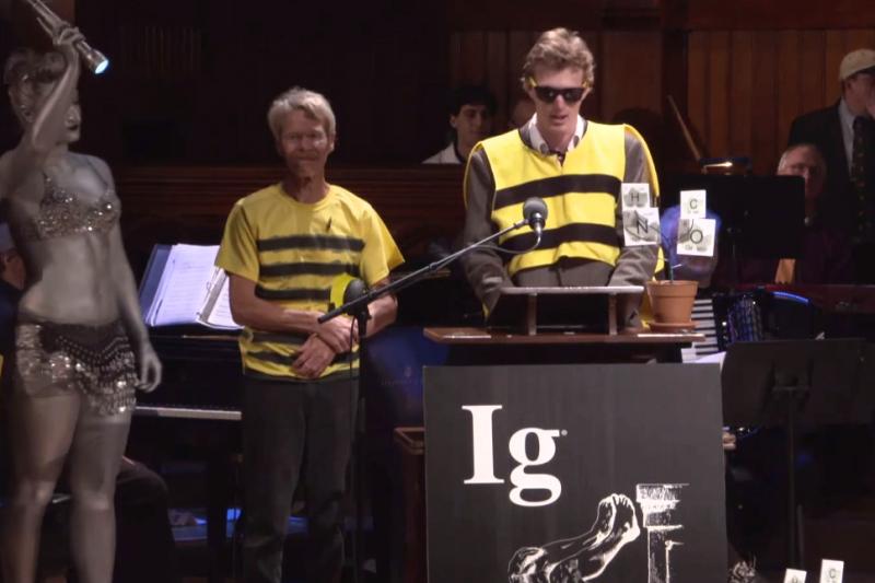 你被蜜蜂叮過嗎?這個科學家自願讓蜜蜂叮,看看叮哪邊最痛。(圖/ImprobableResearch@youtube) )