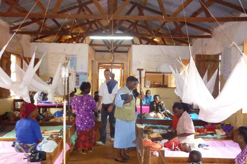 坦尚尼亞的瘧疾診所。(維基百科)