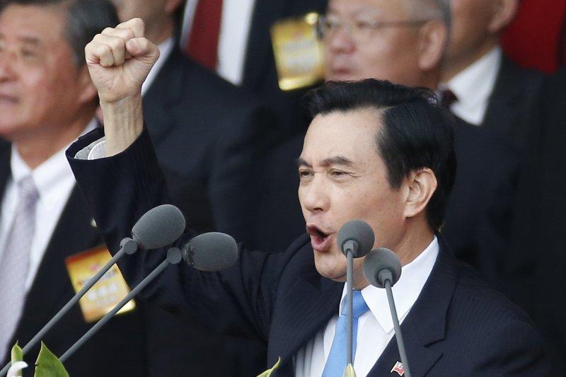 馬英九總統出席104年國慶大會(美聯社)