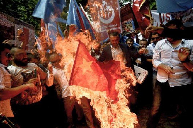 土耳其最近曾爆發反華示威浪潮。(BBC中文網)
