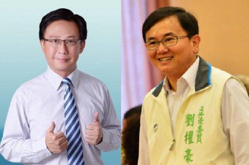 台東縣兩位參選人陳建閣(左,國民黨)和劉櫂豪(右,民進黨)。(取自臉書)