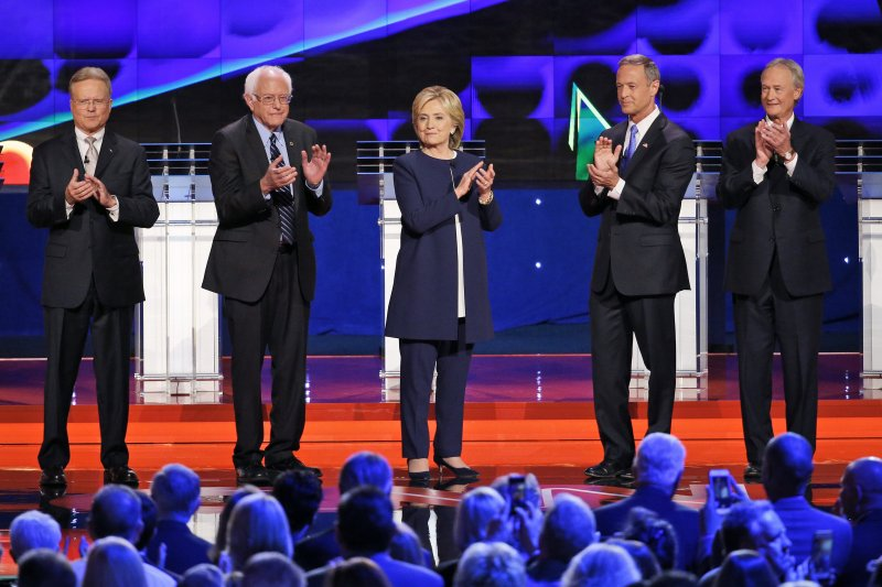 美國民主黨總統候選人賭城辯論。(美聯社)